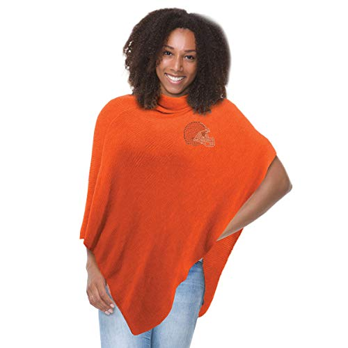 - NFL Cleveland Browns Crystal Knit Poncho