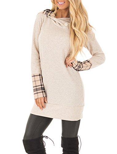 long cowl neck hoodie - 1