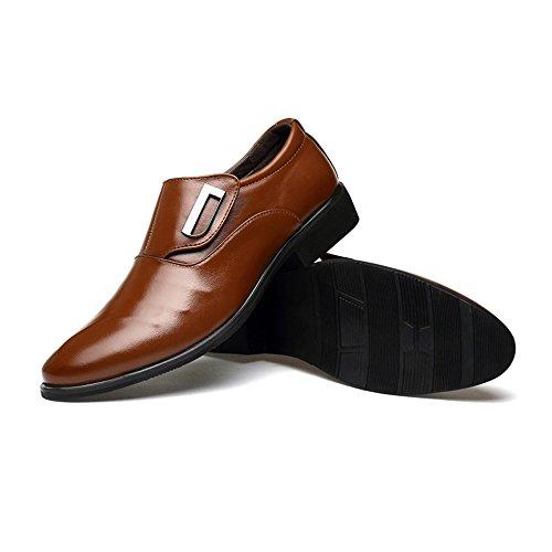 uomo Xujw EU Marrone basse 43 lavoro Slip da PU Scarpe Scarpe shoes Colore da Smooth on Top 2018 Low dimensione Leather stringate traspirante Oxfords Nero SgqrzSI