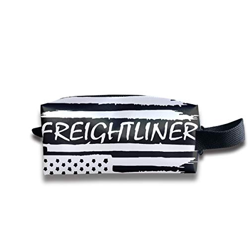 Style Freightliner (NYSOUVENIRS American Flag Freightliner Travel&Home&Office Portable Make-up Receive Bag Hand Cosmetic Bag with Hanging)