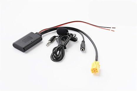 Adaptador Bluetooth Manos Libres para Fiat Alfa Romeo 159 Lancia Mercedes Benz Smart 451, Auto, aux, Receptor de Audio de transmisión de música inalámbrico: Amazon.es: Electrónica
