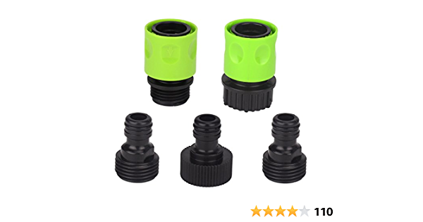 10PCS//2 set Garden Hose Quick Connect Plastic Hose Tap Adapter Set Connector Kit