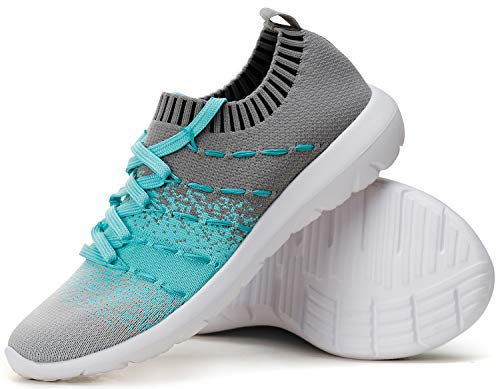 PromArder Women's Walking Shoes Slip On Athletic Running Sneakers Knit Mesh Comfortable Work Shoe