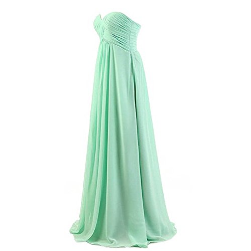 Loel Sweetheart Neckline Strapless Dress Long Chiffon Wedding Gown Floor Length
