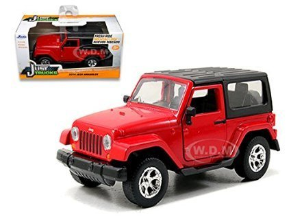 Price comparison product image 2014 Jeep Wrangler Red 1 / 32 by Jada 97313