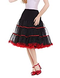 DaisyFormals® Women's Vintage Petticoat 50s Puffy Tutu Underskirt – 4 Colors