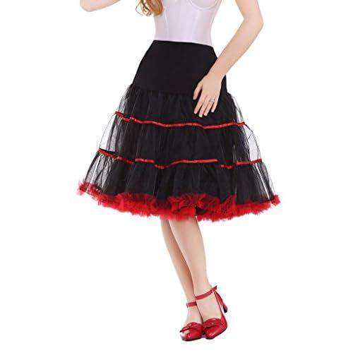 DaisyFormals reg; Womens Vintage Rockabilly Petticoat 50s Puffy Tutu Underskirt,4 Colors