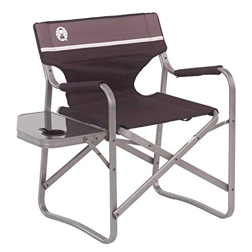 (Coleman Portable Deck Chair with Side Table)