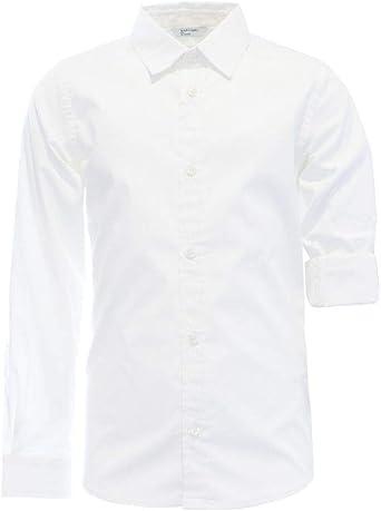 GUESS? Camisa M/L para niño blanco 8 Años: Amazon.es: Ropa y ...
