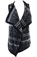 Karen Kane Gray Faux-Fur Drape Vest XL