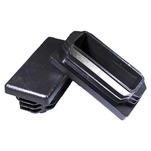 - Prescott Plastics 8 Pack: 1x2 Inch Rectangle Black Plastic Plug End Cap 1 x 2