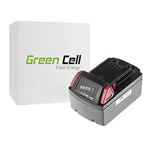 Green Cell® Batería de Herramienta Eléctrica para Milwaukee 2655-22 (Li-Ion 3Ah 18V)