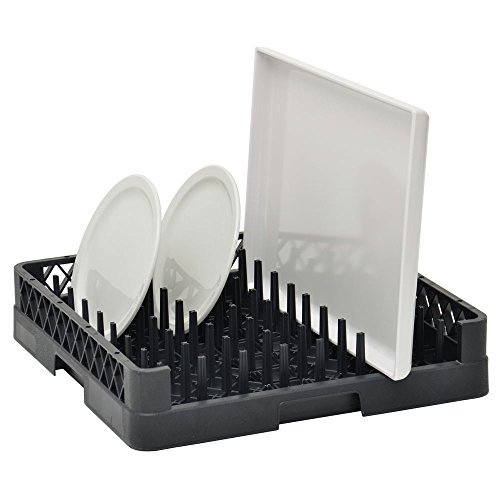 Vollrath Traex Black Plastic Tray and Plate Open End Dishwashing Rack - 19 3/4 L x 19 3/4 W x 4'' H by THE VOLLRATH COMPANY, LLC (Image #1)