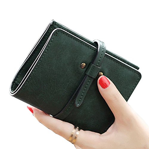 PU Hrph Cuir Belle Court Mini Carte Vert Sac Femme Portefeuille Bourse Petit d'Embrayage Mode wrWSwq7A