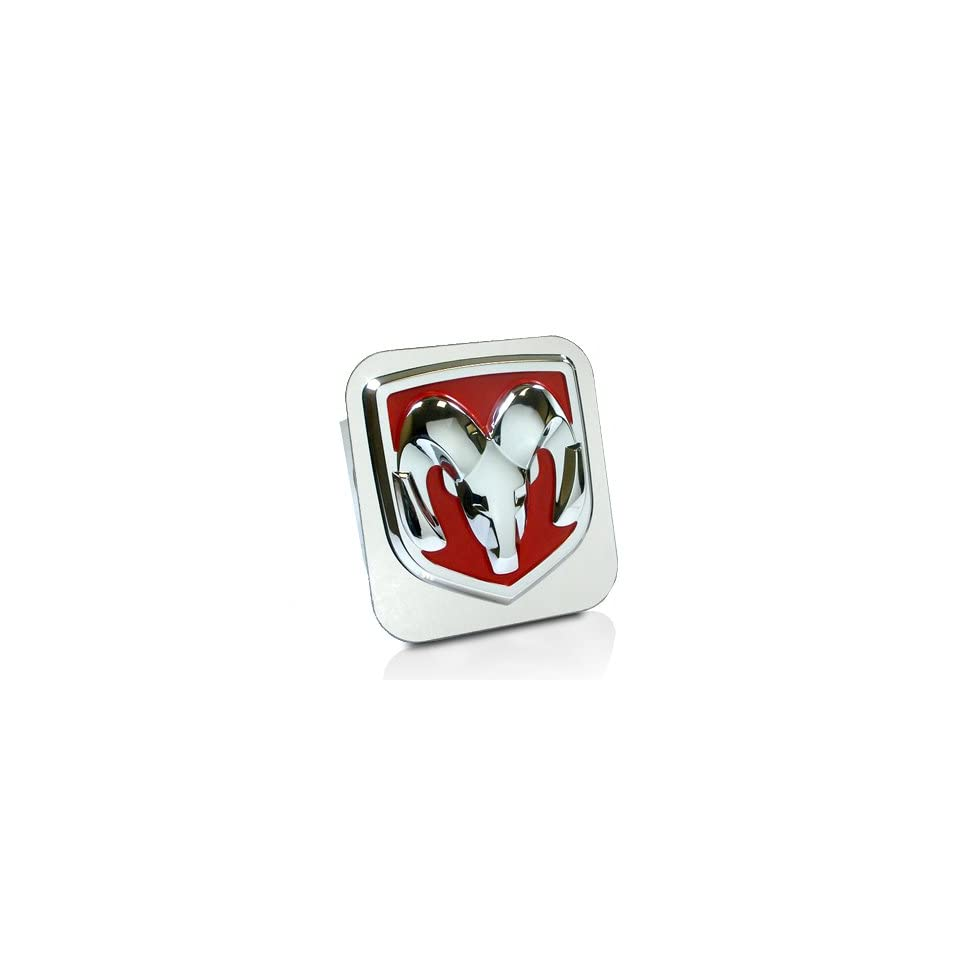 Dodge RAM Red Logo Tow Hitch Cover