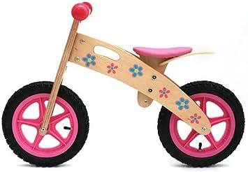 Ooowee Rosa bicicleta de equilibrio de Madera: Amazon.es: Juguetes y juegos