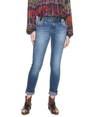 Vaqueros Para refriposas Slim Denim Vaquero Mujer jeans 5053 Desigual zEfwaSqWS