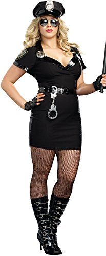 Dirty Cop Officer Anita Bribe Plus Size Costume - Cop Halloween Costumes Plus Size