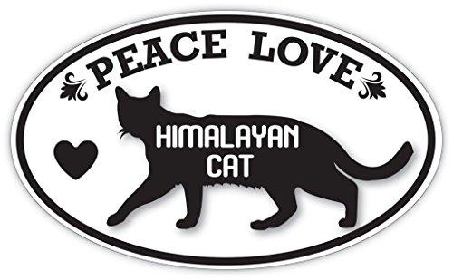 (Lovable Petz - PEACE LOVE HIMALAYAN CAT Cats Pets Sticker - Car Laptop Wall Sticker Decal - 3