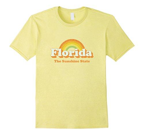 Mens Retro Florida T Shirt Vintage 70s Rainbow Tee Design Large - You Fit Fl Pines Pembroke