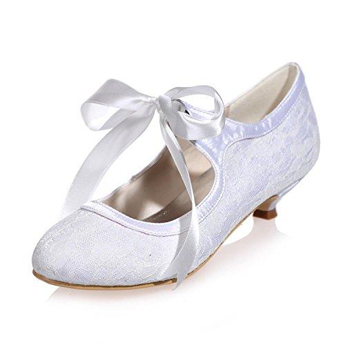 L@YC Damen Hochzeit Schuhe Seide / Spitze Party Night 9001-05 Court Schuhe / mehr Farben erhältlich Gray