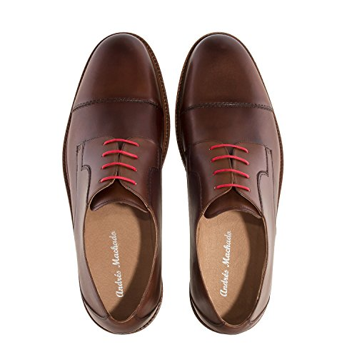 Andres Machado.21078.Leather Lace-up Shoes.Made In Spain.Mens Large Sizes: US M13 To M16 Brown Leather 2cnbGkL0q