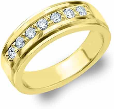 .50 CTTW Legacy Men's Wedding Ring, Genuine Diamond Ring for Men in 10K Gold