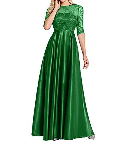 Lang Abendkleider Damen Spitze Brautmutterkleider Gruen Kleider Ballkleider Langarm Jaeger Charmant Standsamt w7Cq8C