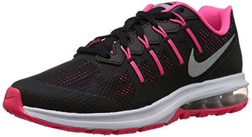 NIKE Youth Air Max Dynasty Running Shoes-Black/Metallic Silver/Noir-5 (Nike Sneakers For Girls)