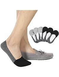 Mens No Show Socks Non-Slip Grips Casual Low Cut Boat Sock 6 Pack