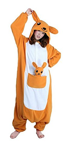Unisex Adult Pajamas Kigurumi Kangaroo Cosplay Costume Animal outfit Sleepwear (M) from Unknown