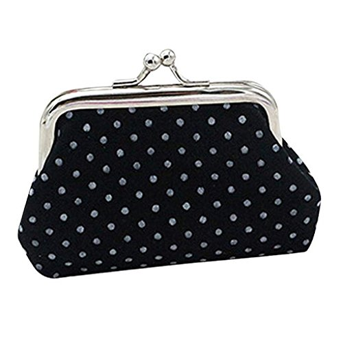 Coin Wallet Womens Holder Clearance Noopvan Wallet Bag Purse Wallet Clutch 2018 Mighty Small Black Handbag Aqwq01