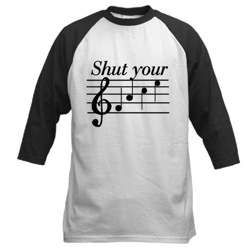 CafePress - Shut your face Baseball Jersey - Cotton Baseball Jersey, 3/4 Raglan Sleeve Shirt - Statement 3/4 Sleeve T-shirt