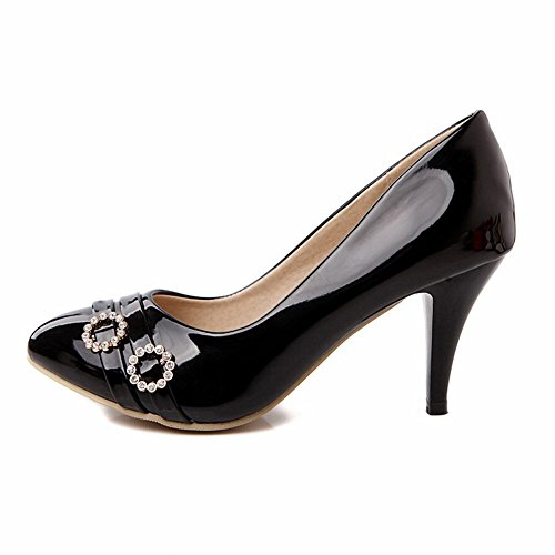 Carol Shoes Chic Womens Cuff Rhinestone Assorted Colors Elegance High Stiletto Heel Pumps Shoes Black BvOE0X