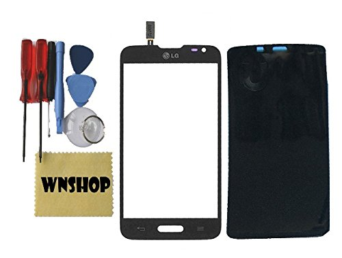Original New Touch Screen Digitizer Glass Lens For LG ULTIMATE 2 II L41C Black + Free Adhesive + Free Tool Kit USA (Lg Ultimate Ii compare prices)