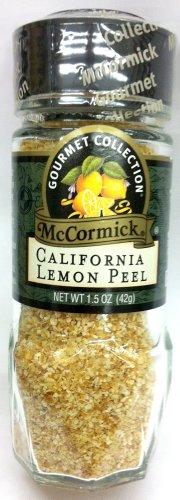 McCormick Gourmet Collection CALIFORNIA LEMON PEEL 1.5oz (2 Pack)