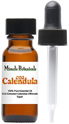 (Miracle Botanicals CO2 Extracted Calendula Essential Oil - 100% Pure Calendula Officinalis - 15ml or 30ml Sizes - Therapeutic Grade - 15ml)