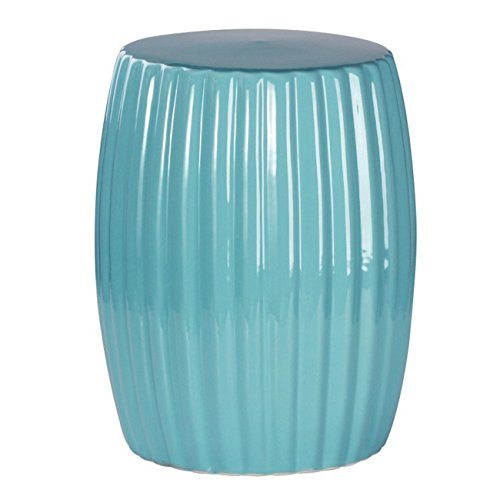 Abbyson® Megan Ceramic Garden Stool, Robbins Egg by Abbyson®