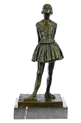 - Handmade European Bronze Sculpture The Little Fourteen Year Old Dancer Ballerina , Signed: Degas NR Bronze Statue -3X-EP-738-Decor Collectible Gift