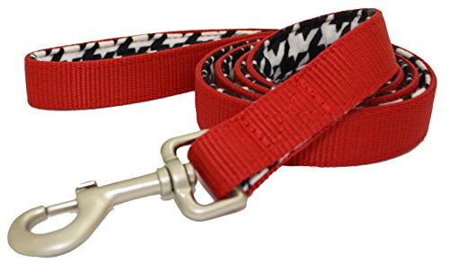 Lami-Cell Houndstooth Dog Leash - Red Houndstooth