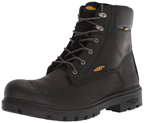 Keen Utility Men's Baltimore 6'' Waterproof Steel Toe Industrial Boot, Black, 11.5 D US