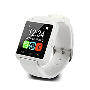 Wildguarder SmartWatch Bluetooth reloj inteligente U8 reloj de pulsera digital Sport Watches para iOS Android dispositivo electronico portatil (Blanco): ...