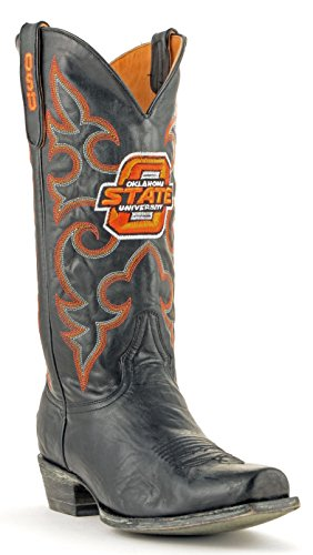 NCAA Oklahoma State Cowboys Men's Board Room Style Boots, Black, 10.5 D (M) US