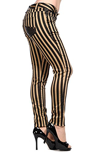 Banned-Brown-Black-Striped-Skinny-Jeans