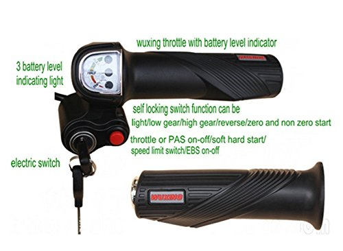 24v36v48v gas handle twist throttle with battery level indicator&lock/key& switch parts