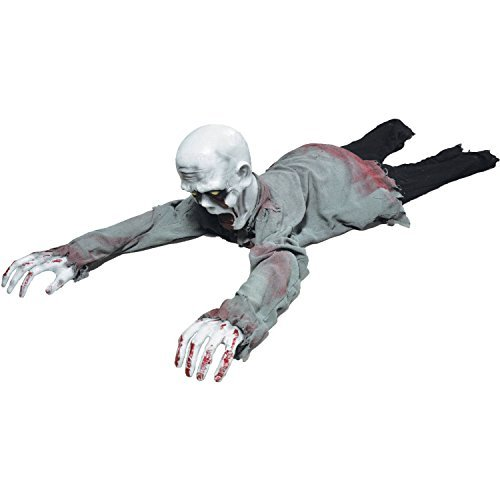 Animated Crawling Halloween Zombie