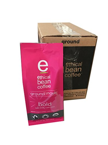 Ethical Bean Coffee - Bold Ground Coffee 8 oz (Pack of 6)