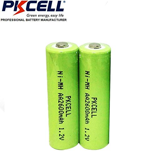 AA 1.2V Nimh 2600mAh High Capacity Rechargeable Battery Button Top 2pcs