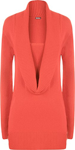 coral cowl neck sweater - 7
