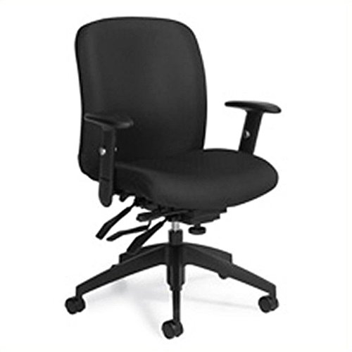 Global Truform Medium Back Multi Tilter Chair with Arms in Ebony